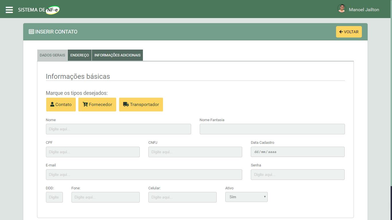 Sistema Emissor de NFe em PHP - Cadastro de Cadastro de Empresas